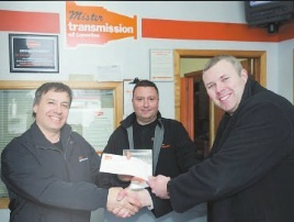 Jan2014_Win Your Repair_Arthur Whitty with Ray Sanchez & Gus Katsovos or Scarborough Location